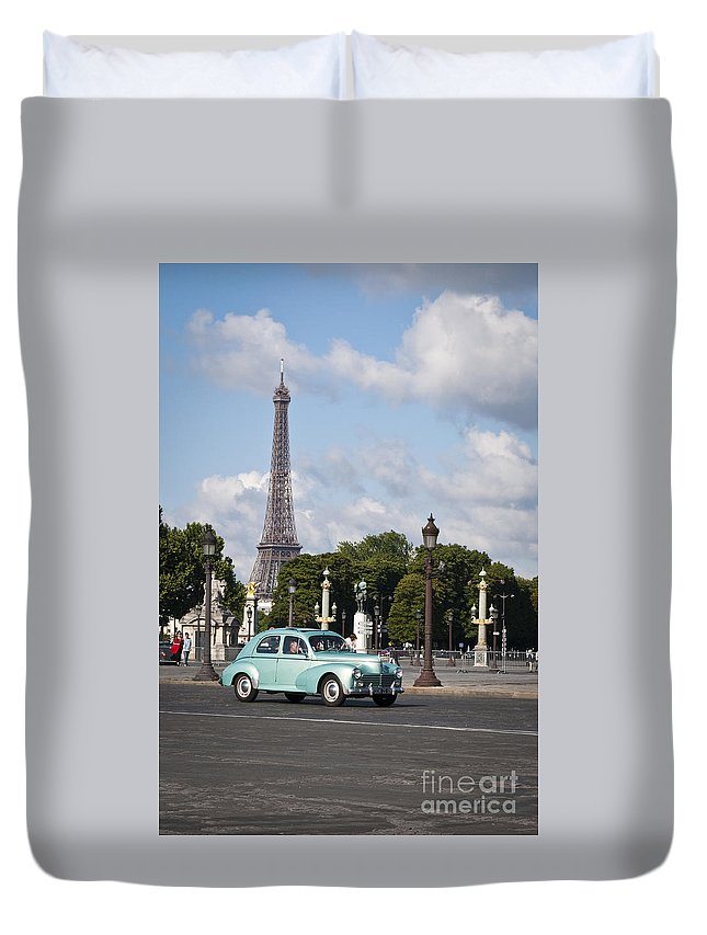 Europe Duvet Cover featuring the photograph Parisian Charm by Lana Enderle
