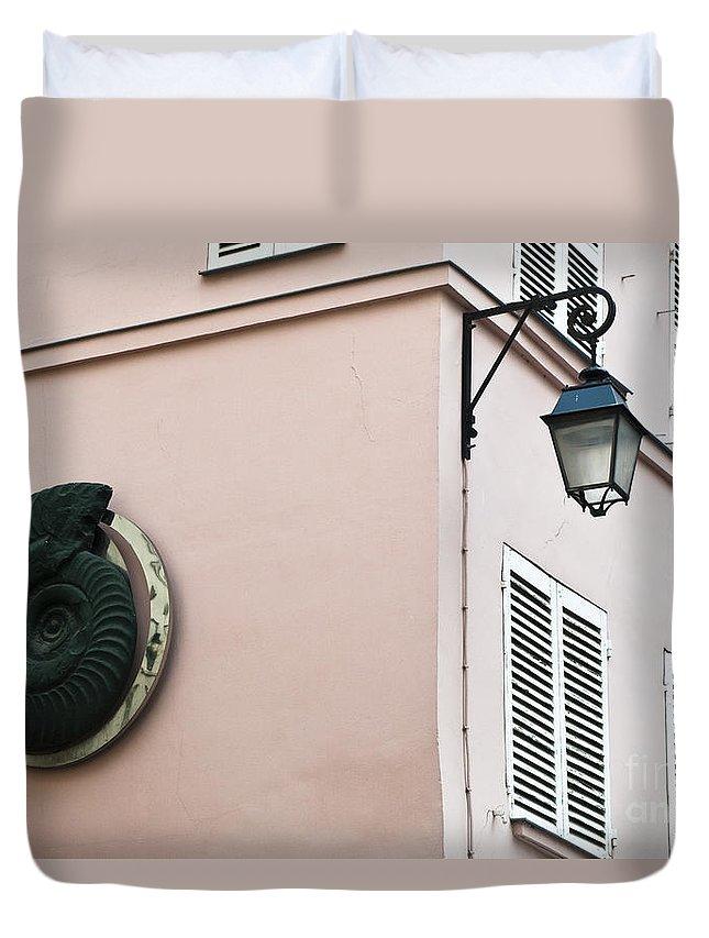 France Duvet Cover featuring the photograph Parisian Corner by Lana Enderle