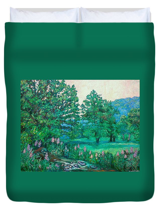 Landscape Duvet Cover featuring the painting Park Road In Radford by Kendall Kessler