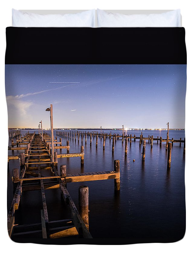 New Jersey Duvet Cover featuring the photograph Parking For Miles by Kristopher Schoenleber
