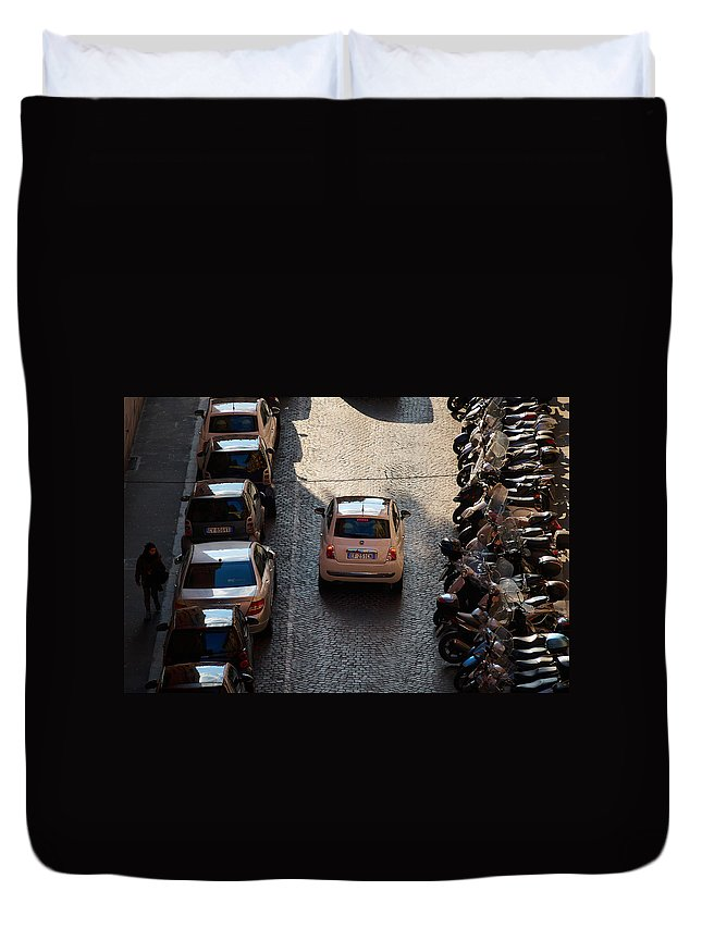 Lehto Duvet Cover featuring the photograph Parking Problems by Jouko Lehto