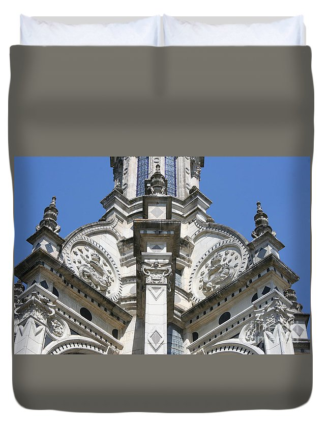 Palace Duvet Cover featuring the photograph Part Of The Crown - Palace Chambord - France by Christiane Schulze Art And Photography