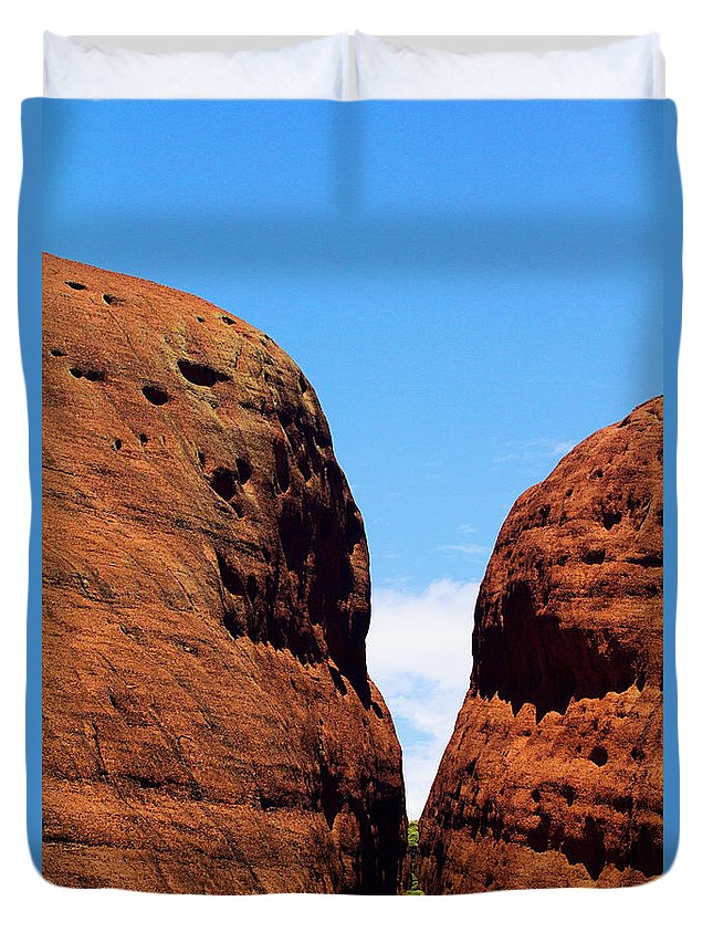 The Olgas Duvet Cover featuring the photograph Parting Rock by Douglas Barnard