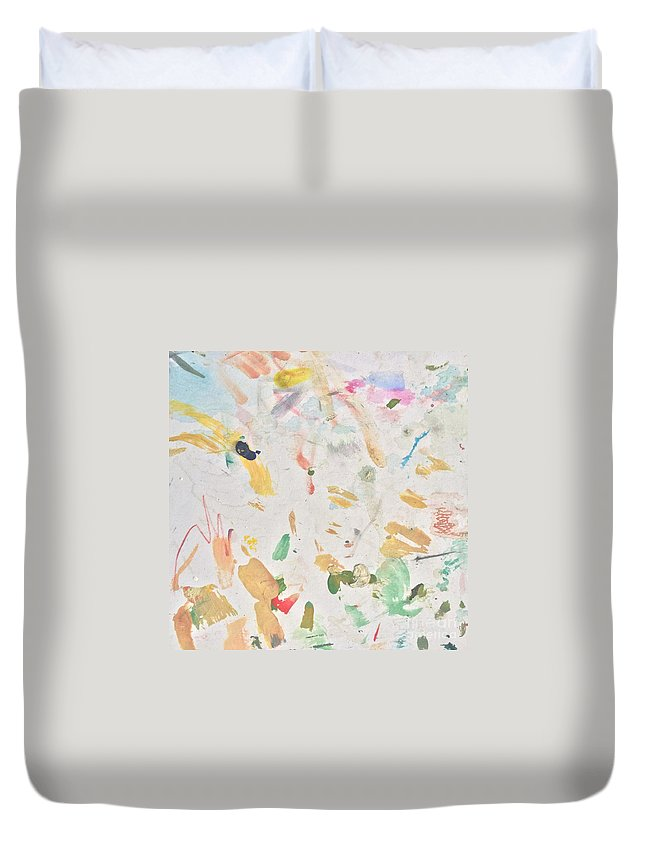 Party Duvet Cover featuring the painting Party People by Robin Maria Pedrero