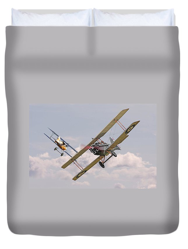 Aircraft Duvet Cover featuring the digital art Passage Of Arms by Pat Speirs