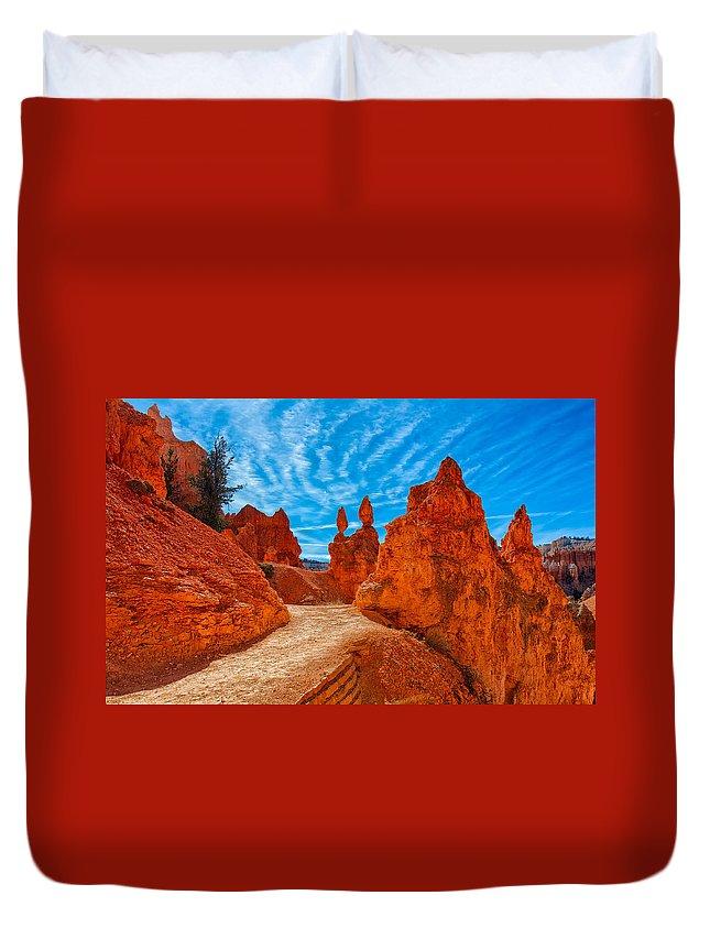 Landscape Duvet Cover featuring the photograph Passages by John M Bailey