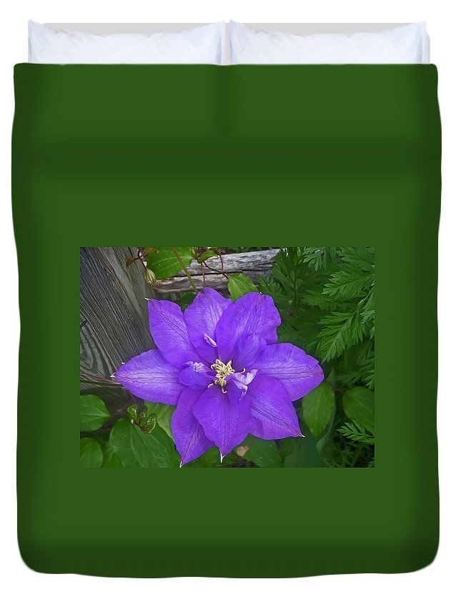 Flower Duvet Cover featuring the photograph Passion Vine by Aimee L Maher ALM GALLERY