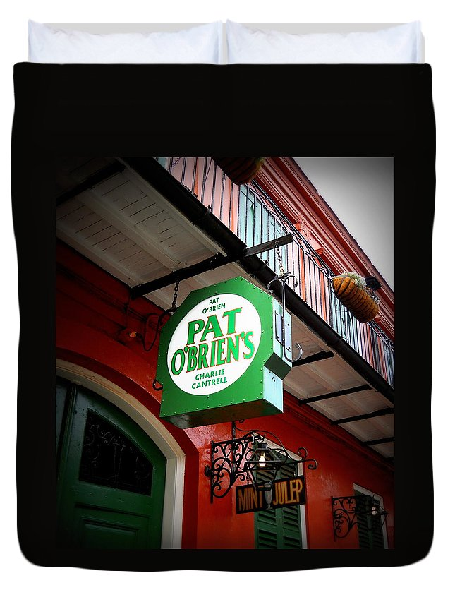 Pat O's Duvet Cover featuring the photograph Pat O's by Beth Vincent