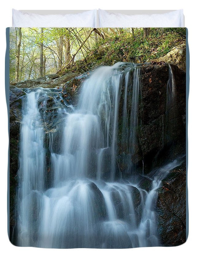 Waterfall Duvet Cover featuring the photograph Patapsco Waterfall by Benjamin Reed