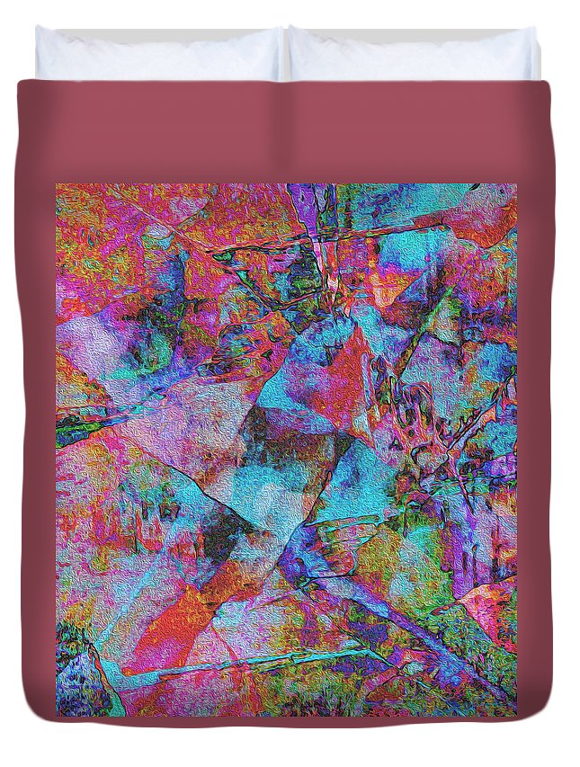 Stone Duvet Cover featuring the photograph Patchwork by Stephanie Grant