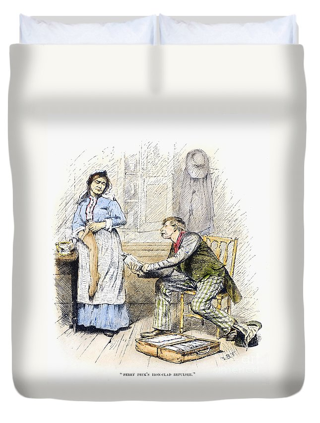 19th Century Duvet Cover featuring the photograph Patent Medicine Salesman by Granger