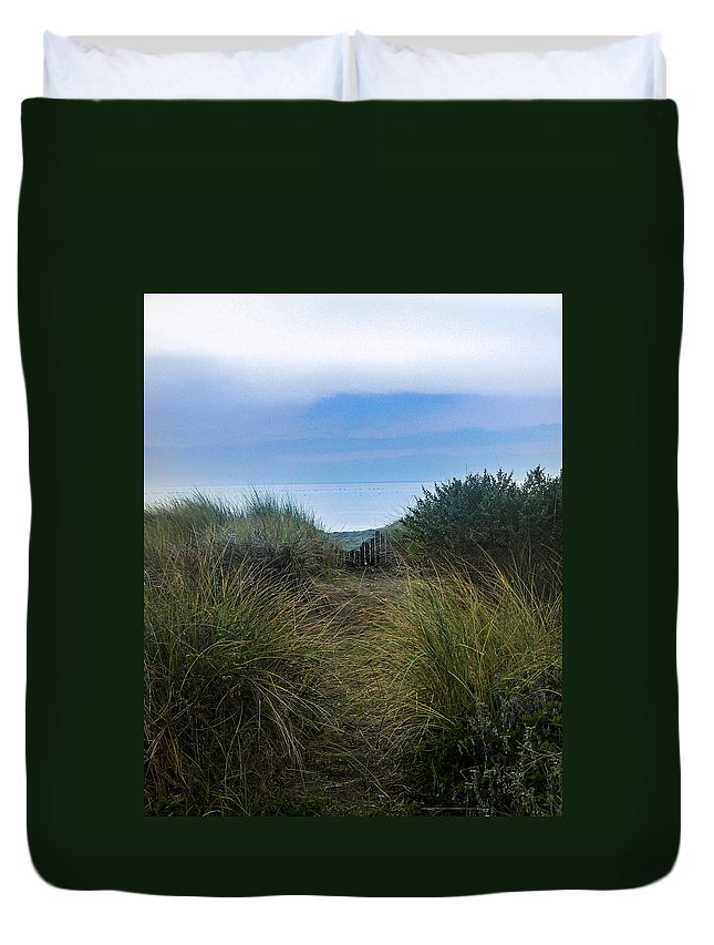 Beach Duvet Cover featuring the photograph Path by Joie Cameron-Brown