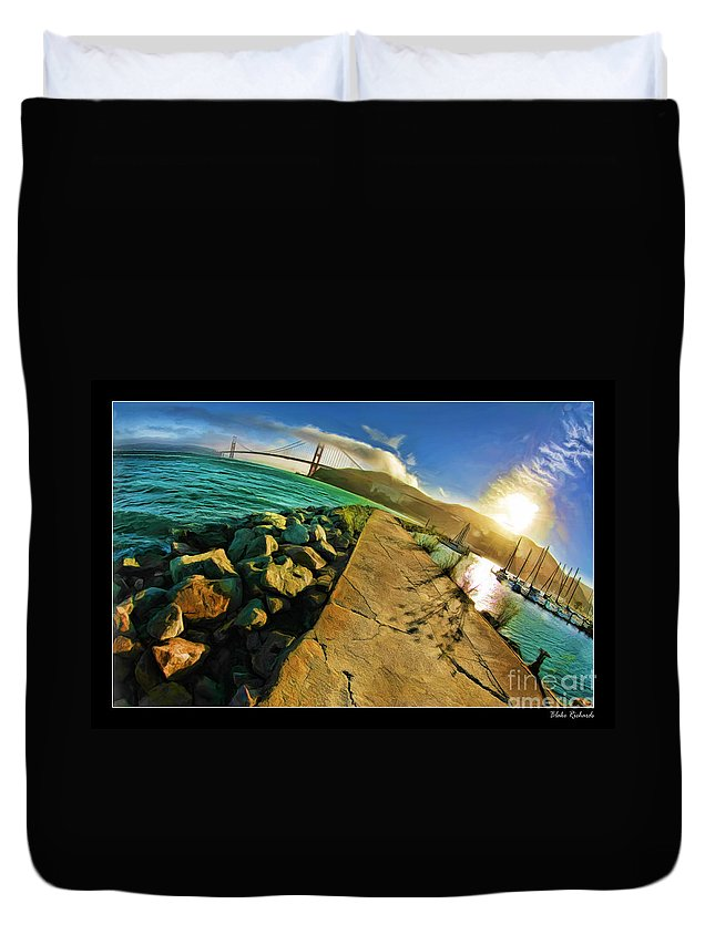 Golden Gate Bridge Duvet Cover featuring the photograph Path To The Golden Gate by Blake Richards