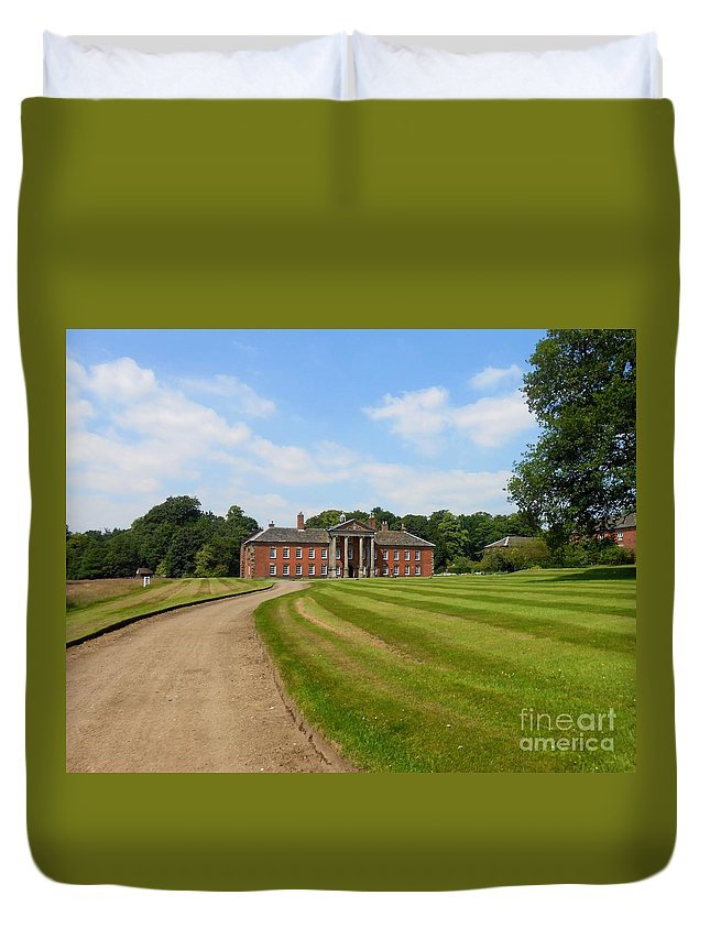 Path Duvet Cover featuring the photograph Pathway To Adlington Hall by Joan-Violet Stretch