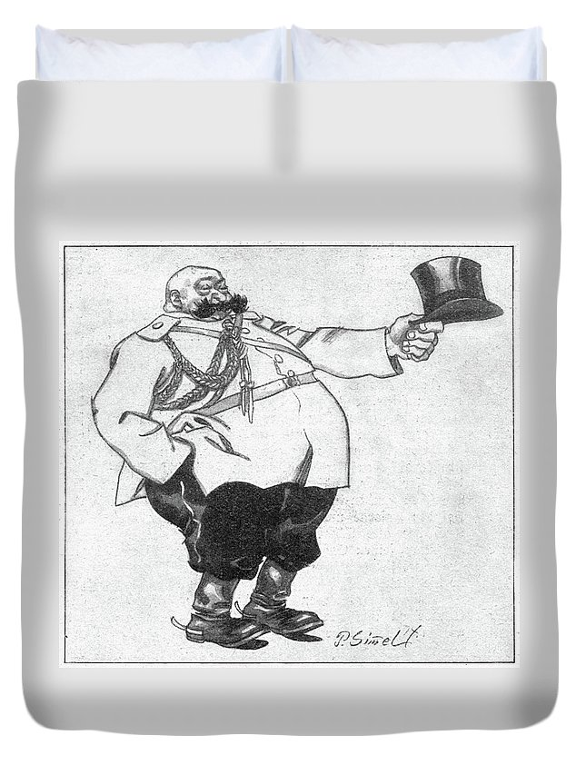 1914 Duvet Cover featuring the drawing Paul Von Rennenkampf (1854-1918) by Granger