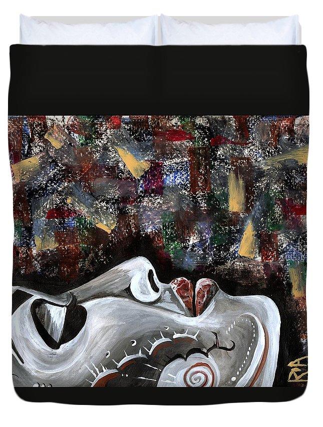 Art Duvet Cover featuring the photograph Peace Amidst Turmoil by Artist RiA