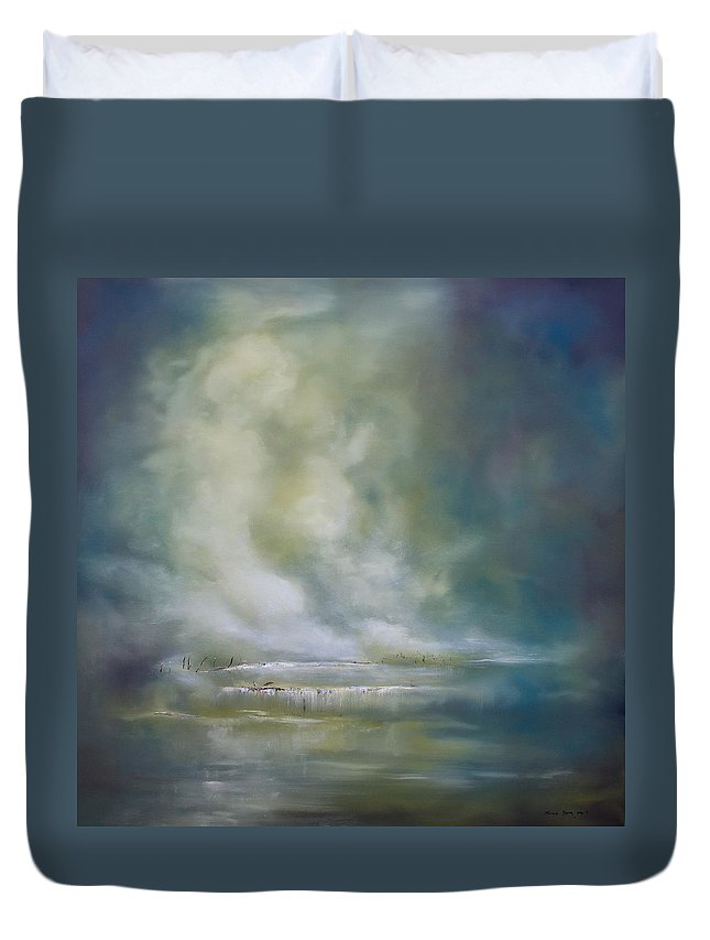 Art Duvet Cover featuring the painting Peace by Melanie Meyer