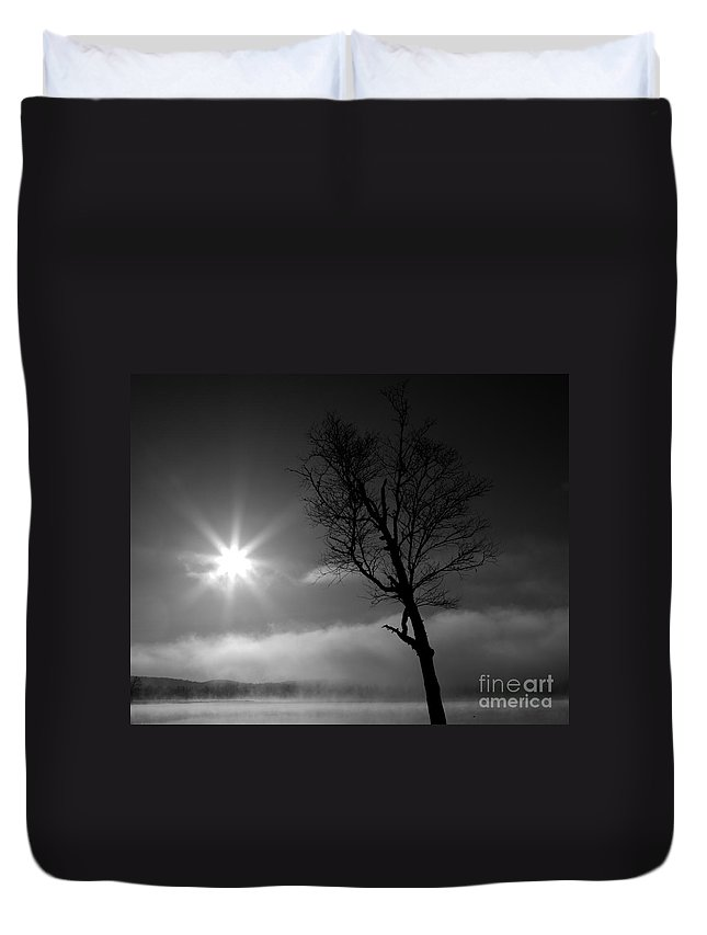 Water Duvet Cover featuring the photograph Peace On Earth by Lloyd Alexander