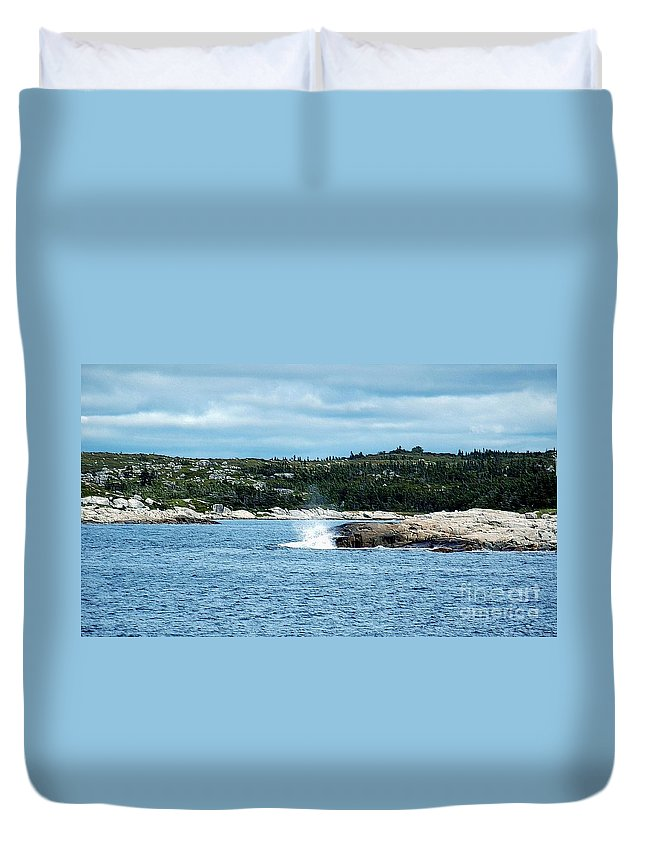 #peaceful #peggy's #cove #nova $scotia Duvet Cover featuring the photograph Peaceful Cove by Kathleen Struckle