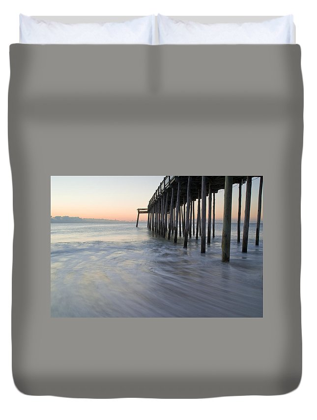 Ocean Duvet Cover featuring the photograph Peaceful Ocean Sunrise by Benjamin Reed
