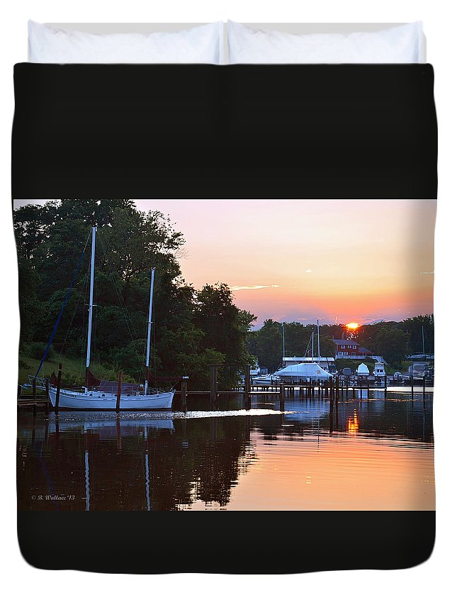 2d Duvet Cover featuring the photograph Peaceful Sunset by Brian Wallace