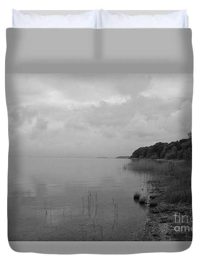Chiemsee Duvet Cover featuring the photograph Peacefullness by Christiane Schulze Art And Photography