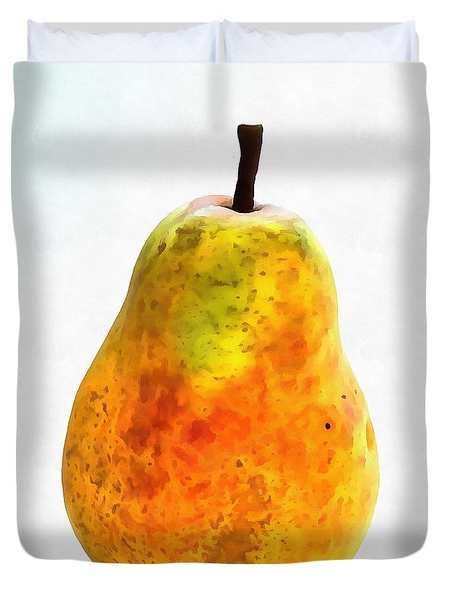Pear Still Life Duvet Cover featuring the painting Pear Still Life by Dan Sproul