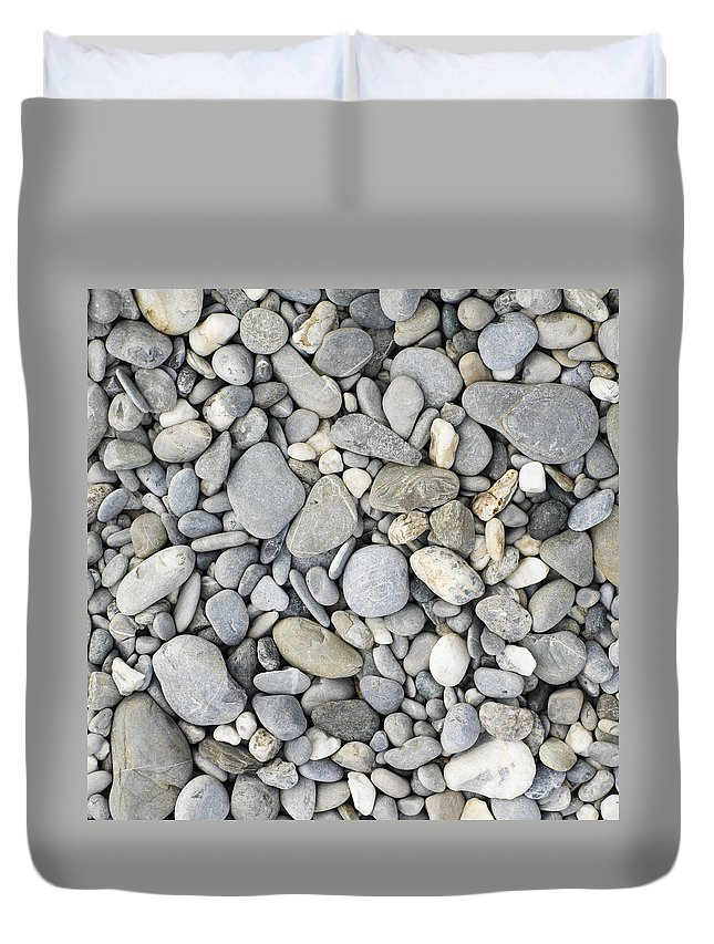 Pebble Duvet Cover featuring the photograph Pebble Background by Chevy Fleet