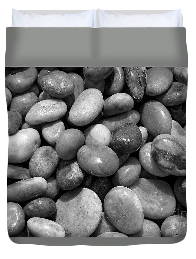 Pebble Beach Chesil Uk Duvet Cover featuring the photograph Pebbles Chesil Uk by Julia Gavin