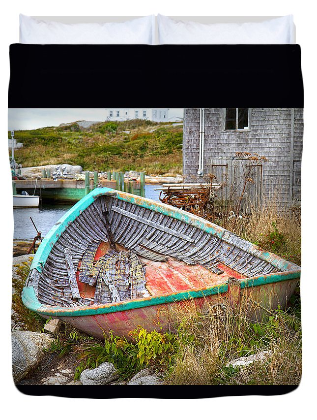 Peggy's Duvet Cover featuring the photograph Peggy's Cove 11 by Betsy Knapp