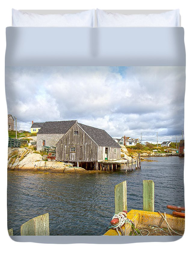 Peggy's Duvet Cover featuring the photograph Peggy's Cove 6 by Betsy Knapp