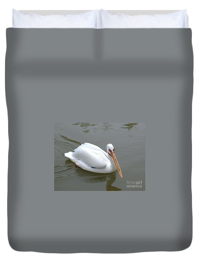 Pelican Duvet Cover featuring the photograph Pelican Brief by Nathanael Smith