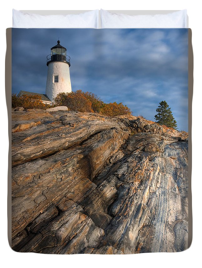 Clarence Holmes Duvet Cover featuring the photograph Pemaquid Point Light II by Clarence Holmes