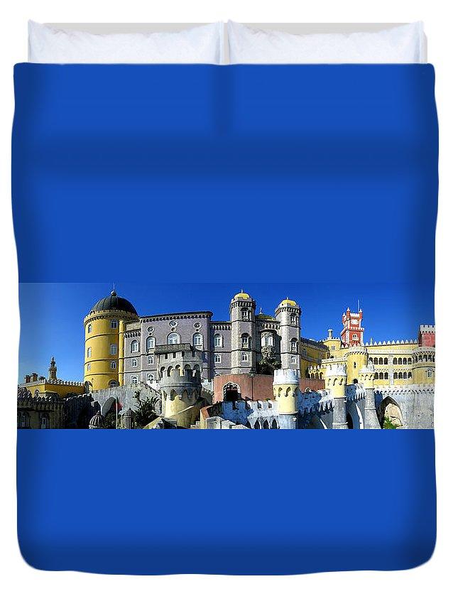Palace Duvet Cover featuring the photograph Pena National Palace by Jose Elias - Sofia Pereira