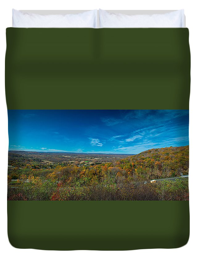 Forest Duvet Cover featuring the photograph Pennsylvania Autumn by Guy Whiteley