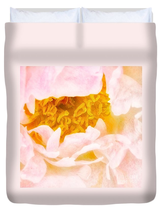 Peony Duvet Cover featuring the photograph Peony Flower by Joe Mamer