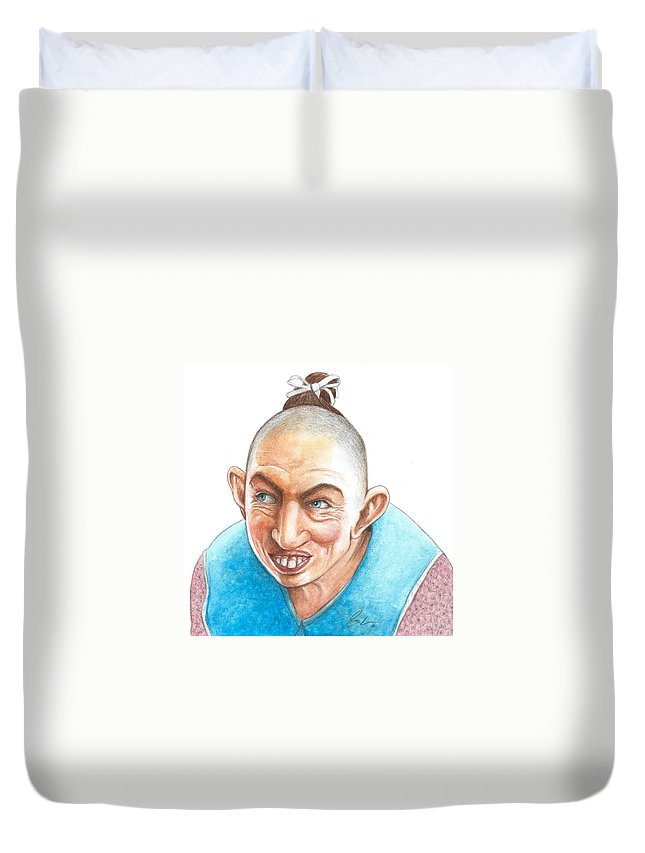 Pepper Duvet Cover featuring the painting Pepper by Bruce Lennon