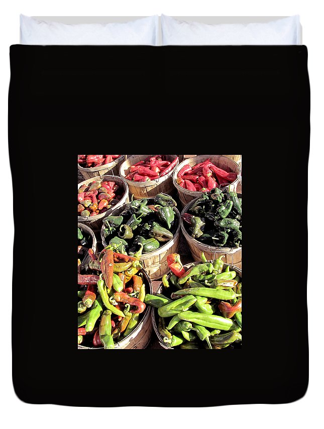 Phil Welsher Duvet Cover featuring the photograph Peppers By The Bushel by Phil Welsher