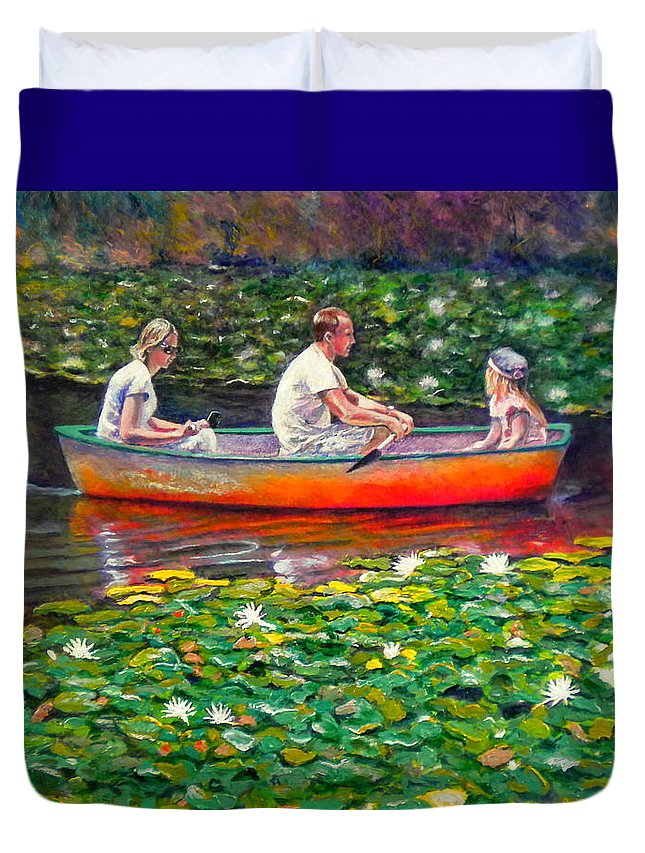 Water Lily Duvet Cover featuring the painting Perfect Afternoon by Michael Durst