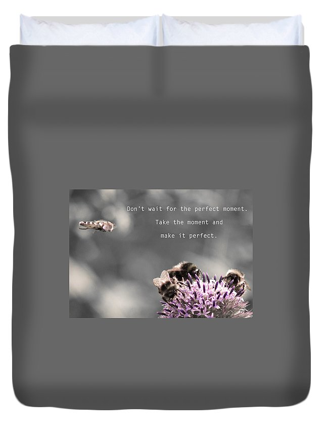 Perfect Moment Duvet Cover featuring the photograph Perfect Moment by Alex Art and Photo