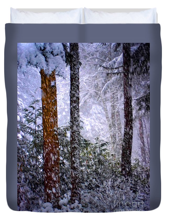 Abstract Duvet Cover featuring the photograph Perfect Storm by Lauren Leigh Hunter Fine Art Photography