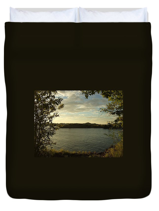 Duvet Cover featuring the photograph Perfect View by Katerina Naumenko