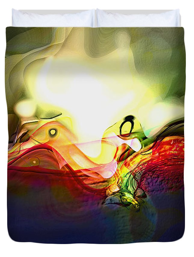 Abstract Duvet Cover featuring the digital art Performance by Richard Thomas