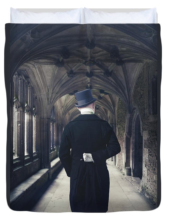 Man Duvet Cover featuring the photograph Period Gentleman by Joana Kruse