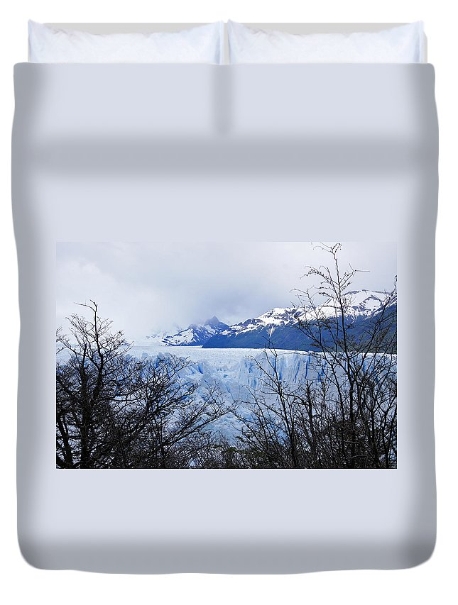 Argentina Duvet Cover featuring the photograph Perito Moreno Glacial Landscape by Michele Burgess