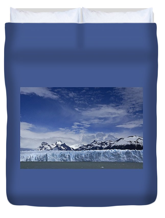Argentina Duvet Cover featuring the photograph Perito Moreno Glacier And The Andes by Michele Burgess
