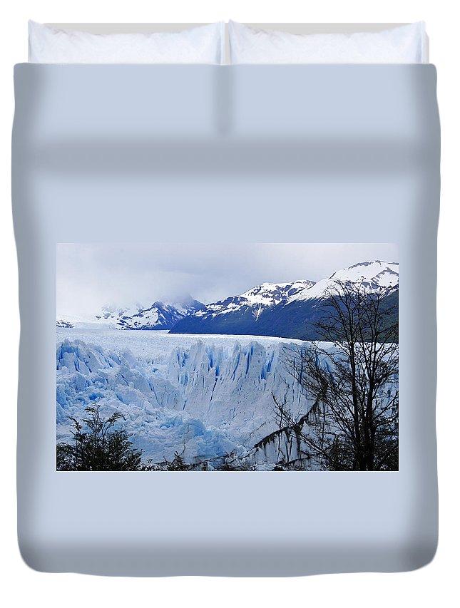 Argentina Duvet Cover featuring the photograph Perito Moreno Glacier by Michele Burgess