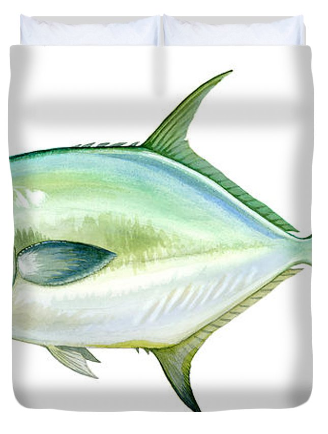 Charles Duvet Cover featuring the painting Permit by Charles Harden