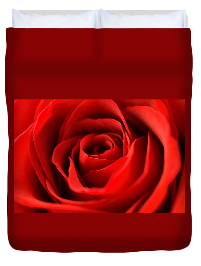 Rose Duvet Cover featuring the photograph Petal Of Honor by Deb Halloran