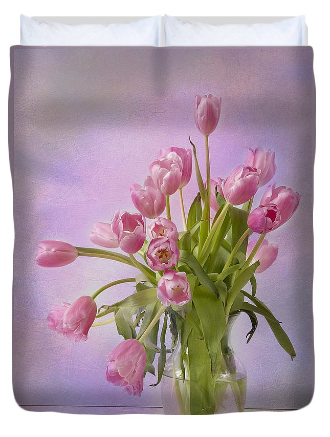 Tulip Duvet Cover featuring the photograph Petal Pusher by A New Focus Photography